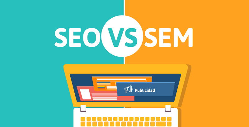 What is the main difference between SEO and SEM?